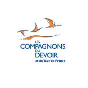 """Logo des Compagnons du Devoir présent dans l'encart """"Partenaires"""""""