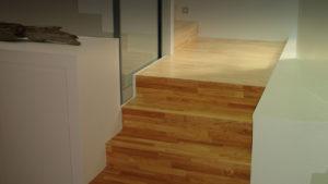Escalier contemporain en bois clair - Slide 02 du diaporama d'accueil